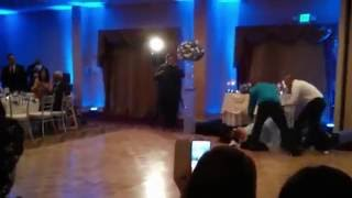 Husband Knocks Wife out at wedding