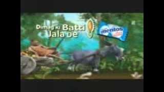 Mentos de anuncios de cachemira Doblaje de Cachemira de dibujos animados divertidos Chistes