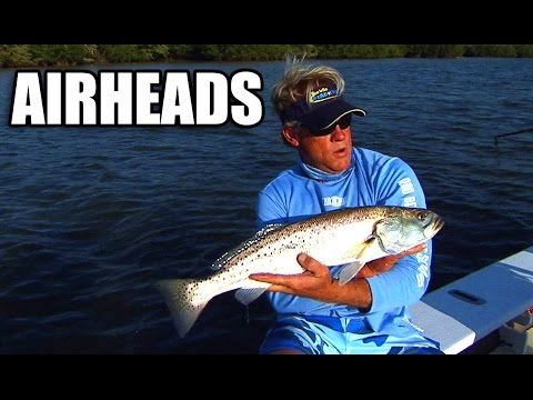 Trout fishing with DOA airheads in Vero Beach Florida