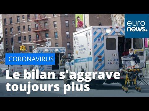 Coronavirus: le bilan s'aggrave toujours plus aux États-Unis et au Royaume-Uni