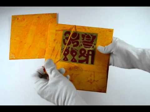 D 132 Yellow Color Handmade Paper Hindu Cards Hindu Wedding