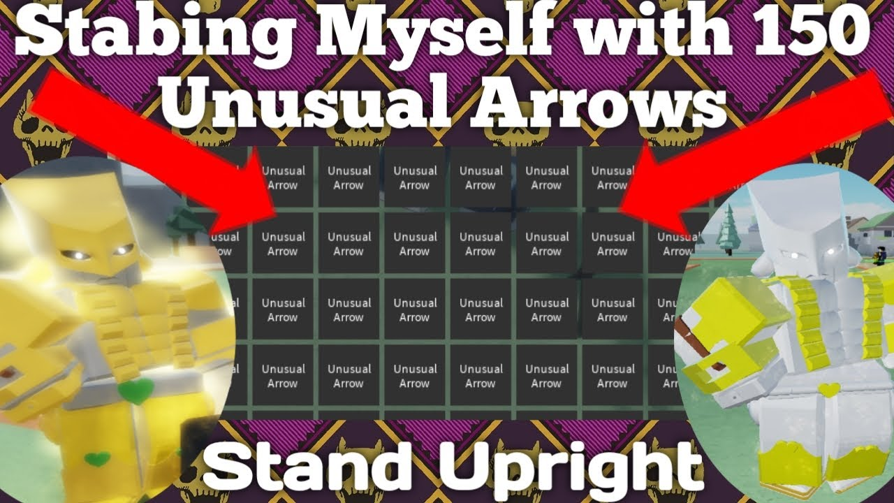 Dtw Stabbing Myself With 150 Unusual Arrow In Stand Upright Roblox Youtube More than 190 stand arrow at pleasant prices up to 39 usd fast and free worldwide shipping! unusual arrow in stand upright