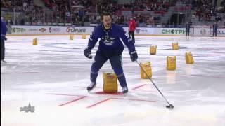 Матч Звезд 2015: Змейка / KHL All Star Game 2015: Puck Control relay