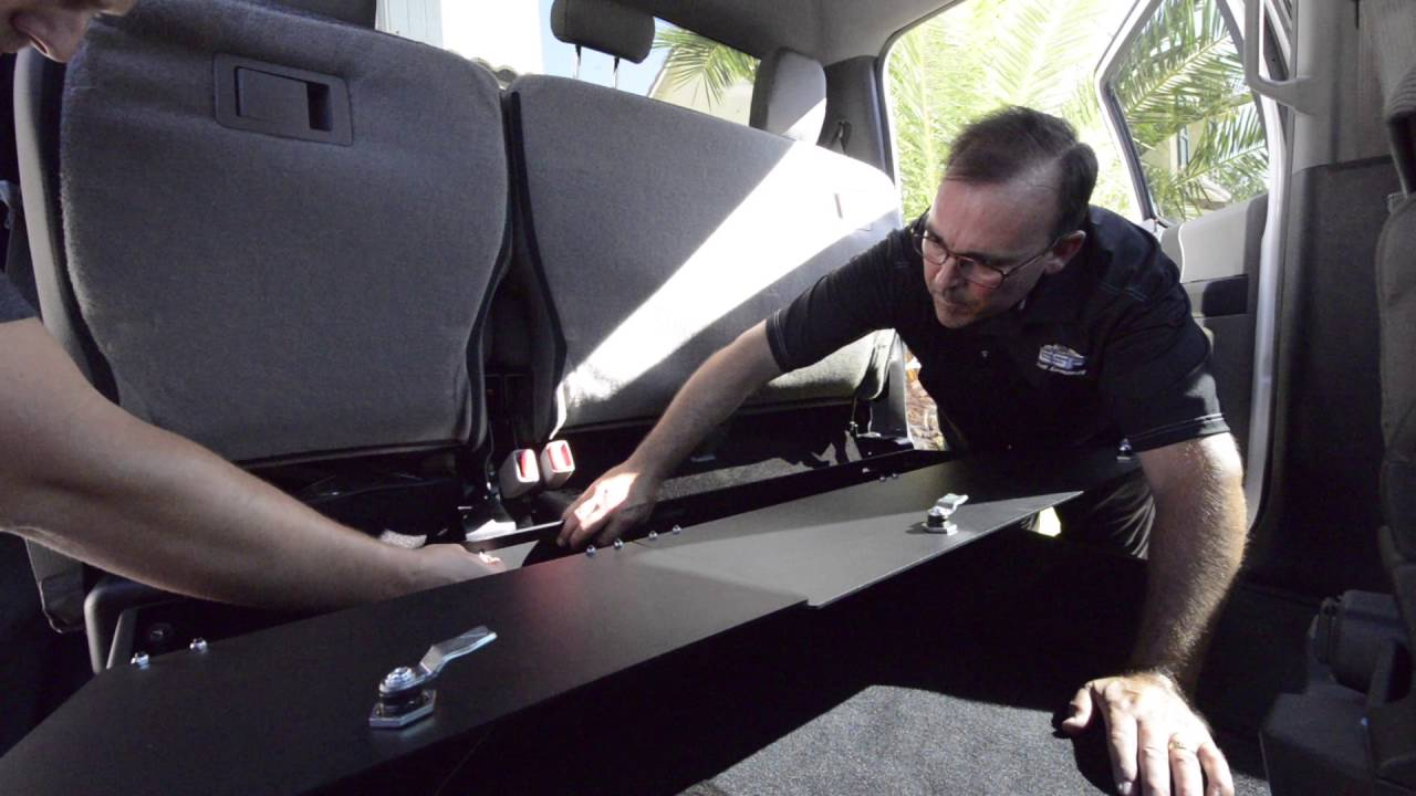 Esp Ford F150 Raptor Rear Underseat Storage Install Youtube