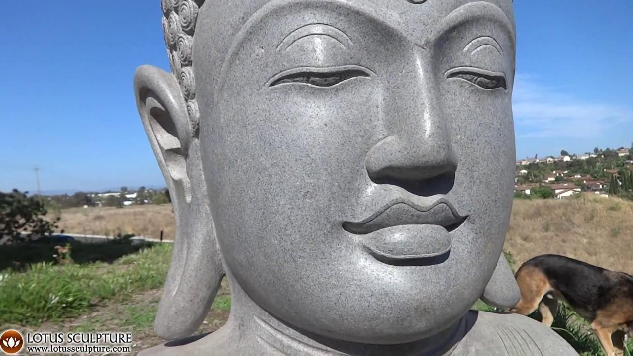 Large Buddha Head, Garden Big Buddha Bust Www.lotussculpture.com