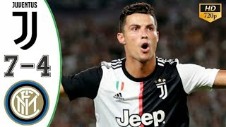 Inter Milan vs Juventus 4 7   Highlights & Goals Resumen & Goles Last Matches,cristaino Ronaldo