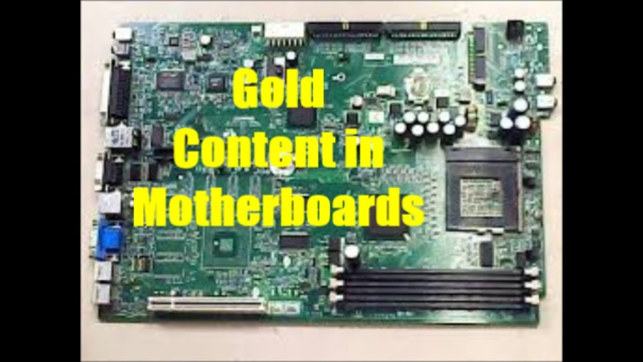 Ewaste Recycling | Gold & Palladium Content in Motherboards & other Hidden Components