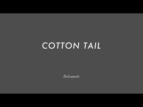 COTTON TAIL chord progression (slow) (no piano) - Jazz Backing Track Play Along The Real Book Jazz