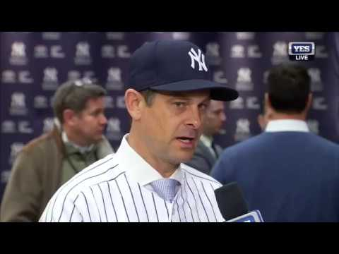Aaron Boone interview after being named Yankees manager