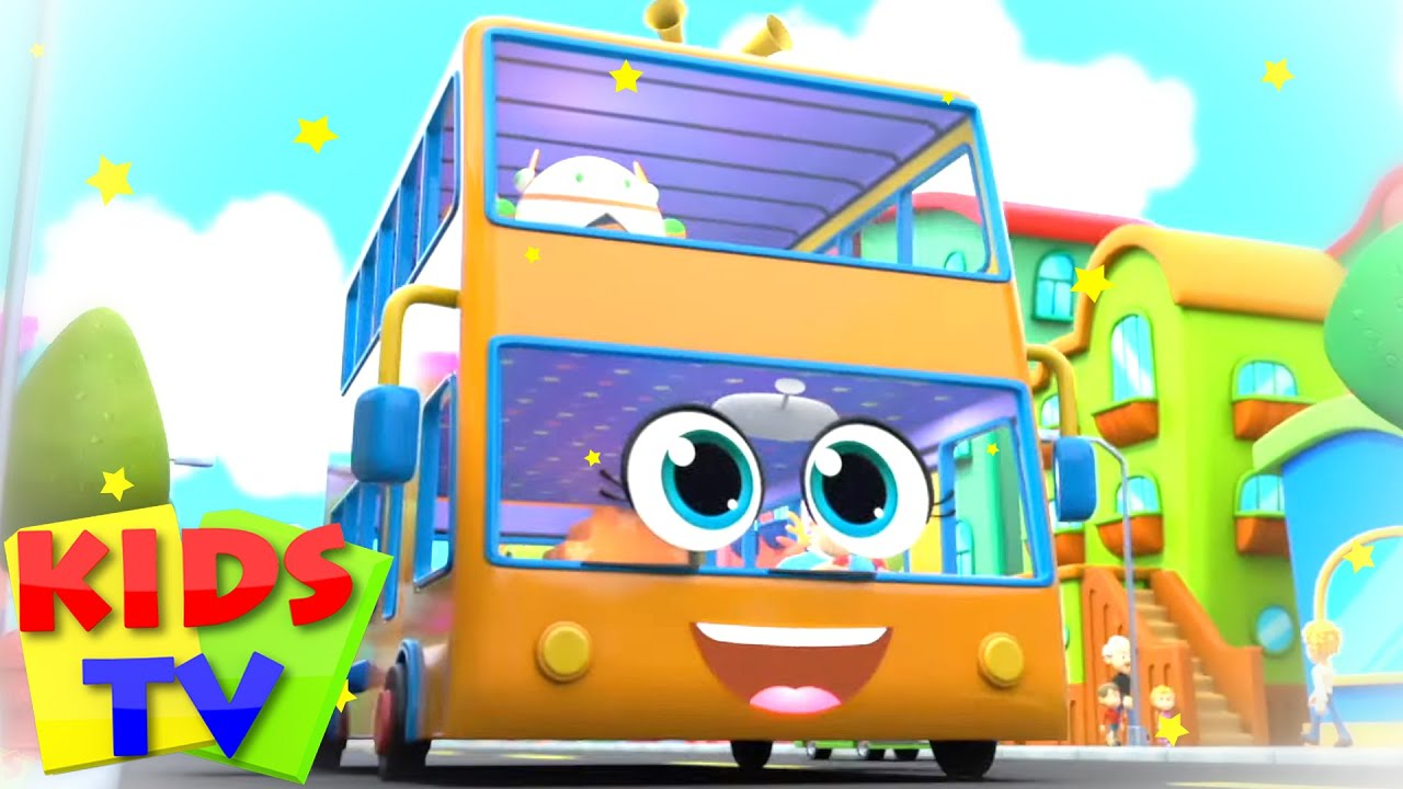 The Wheels On The Bus | Nursery Songs & Baby Rhymes | Super Supremes Cartoon | Kids Tv