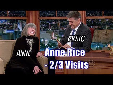 Anne Rice - Craig Gives Her An Original Idea For A Book - 2/3 Visits In Chronological Order