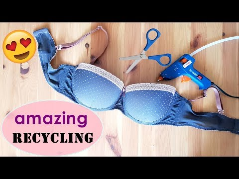 AWESOME CRAFT WITH OLD BRA / AMAZING RECYCLING /DIY
