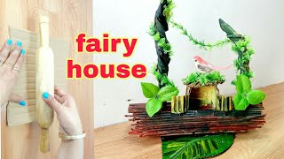 How to make beautiful fairy house very easy | p craft | DIY