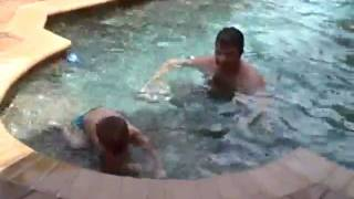 Devin and Caleb in the Pool -Part 1