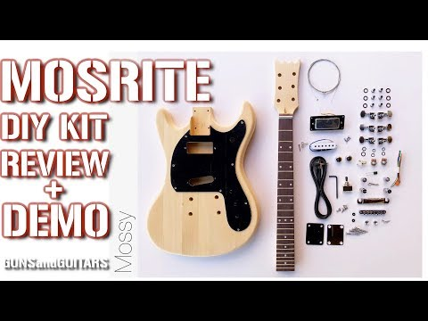 Johnny Ramone MOSRITE Style guitar kit REVIEW and DEMO