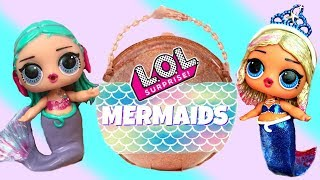 Finding LOL Big Surprise Custom Mermaids with Barbie Mermaid Queen