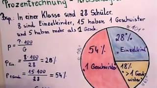 Kreisdiagramm erstellen: Prozentrechnung