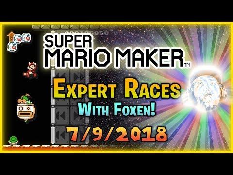 SimpleFlips Super Mario Maker: 100 Man Races w Foxen Shared Music Queue 792018