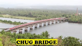 WDP3A TVC Rajdhani Sharavathi Bridge !!!