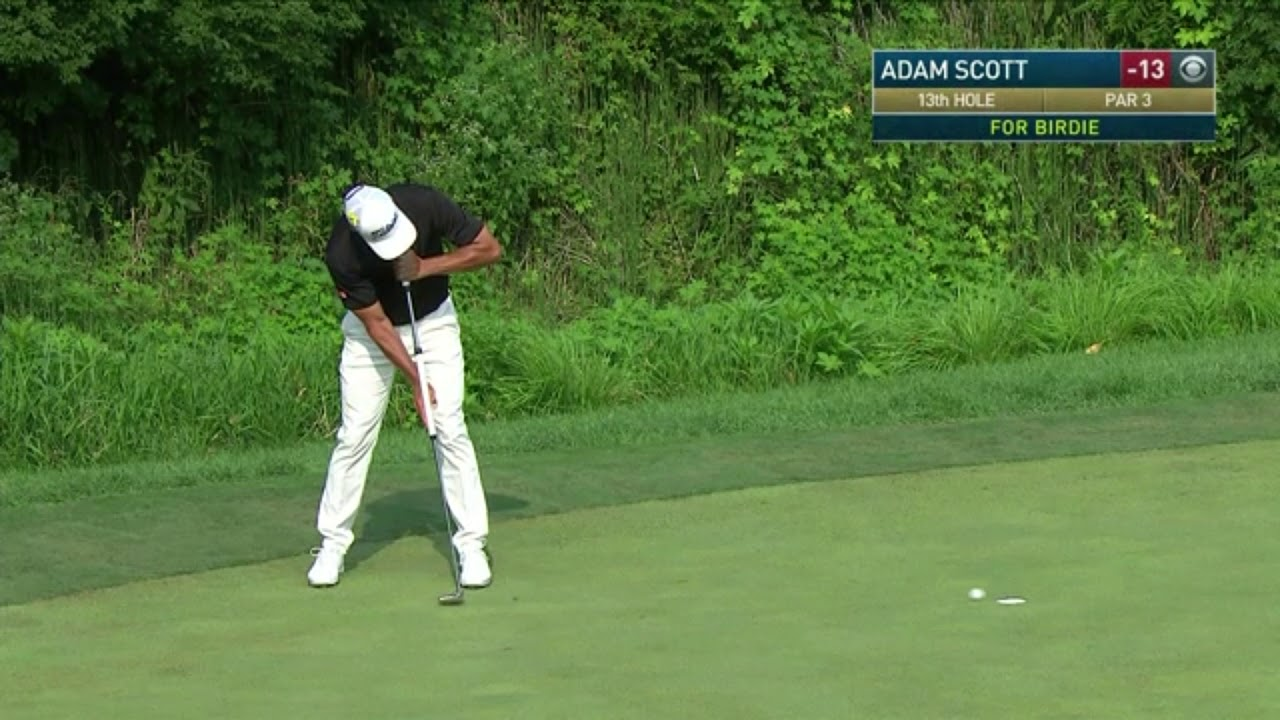 Adam Scott Had 2 Putters In His Bag At The Pga Championship Youtube