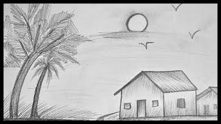shading pencil scenery drawing drawings sketching drawingsketch101