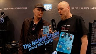Billy Sheehan talks about his new EBS Bass Pedal at NAMM 2019