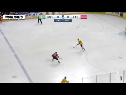 Sverige vs Lettland hockey VM