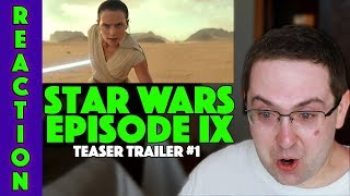 REACTION! Star Wars Episode IX: The Rise of Skywalker - Teaser Trailer #1 - Daisy Ridley Movie 2019