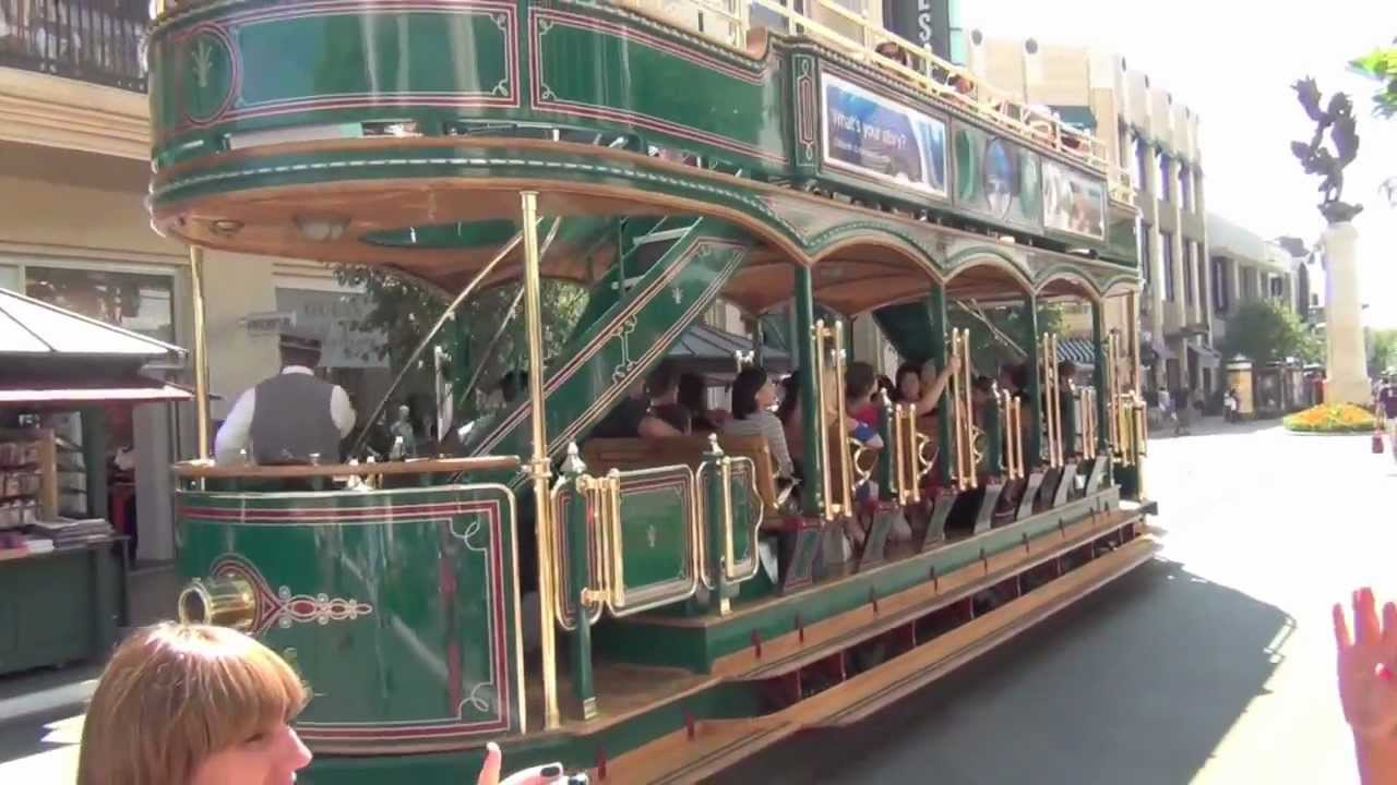 Hd The Grove Trolley Los Angeles Youtube
