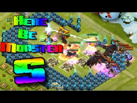 Castle Clash Here Be Monsters S Strategy (TH 20) Low Heroes