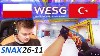 CSGO Snax POV 26-11 vs Turkey Space Soldier (WESG 2016 World Finals)
