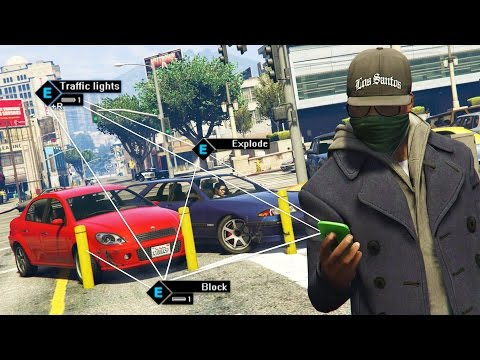 GTA 5 Mods - WATCH DOGS MOD 5 Star POLICE Getaway! GTA 5 Hac
