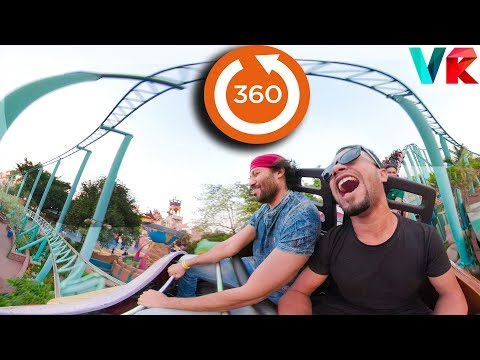 360 Video Roller Coaster | 360 VR VIDEO for Virtual Reality | 360° Roller Coaster Fantasy Kingdom