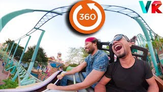 360 Video Roller Coaster | 360 VR VIDEO for Virtual Reality | 360° Roller Coaster Fantasy Kingdom