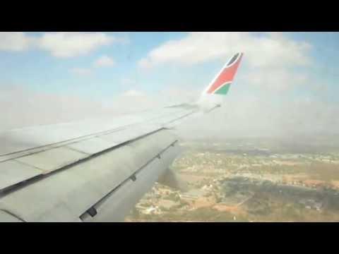 Kenya Airways B737-700 Gaborone Landing