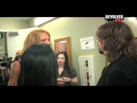 Dave Grohl + Sebastian Bach Uncensored backstage at Golden Gods
