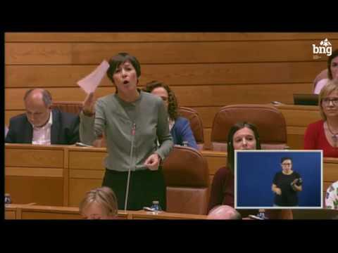 """Ana Pontón a Feixóo: """"Vostede estase convertendo nun perigo para a saúde das persoas""""."""