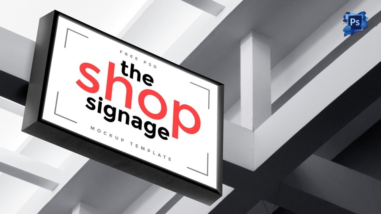 How to design a outdoor signage mockup template in photoshop adobe photoshop cs6 tutorial