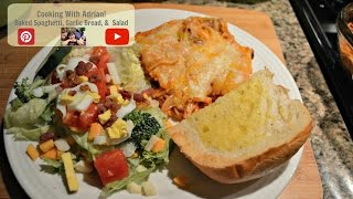 How to make Spaghetti Bake on Cooking With Adrian!