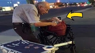 This Old Man Spends Every Night On Corner – People Ignore Him, Until One Stranger Finds Out Why
