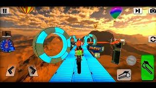 "Bike imposible tracks Race: 3D Motorcycle Stunts"" #Dirt Motor Cycle Racer Game | bike wala game"