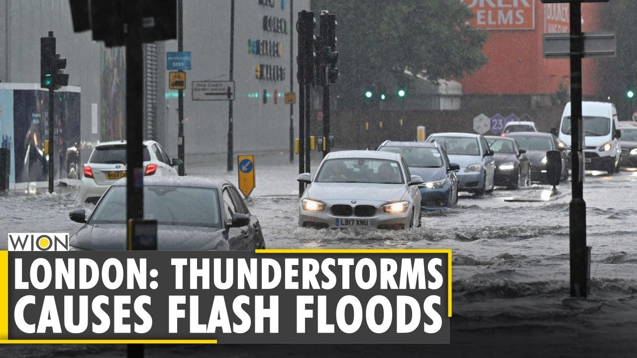 Download WION Live Broadcast: Heavy rains cause flooding in London, traffic disrupted   International News