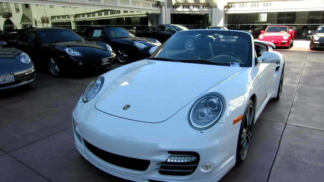 2011 porsche 911 turbo s cabriolet white black pdk 530 hp carbon 997 for sale beverly hills. Black Bedroom Furniture Sets. Home Design Ideas