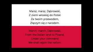 Hymn Polski - Mazurek Dąbrowskiego - wersja instrumentalna - tonacja C-Dur - tekst - 4 zwrotki