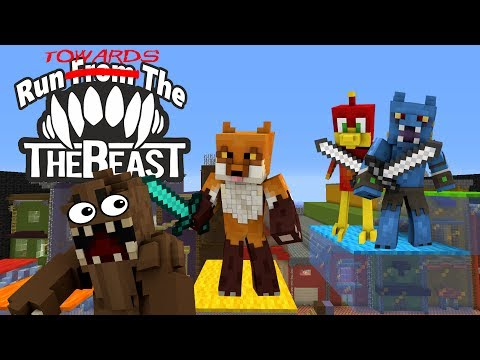 NOT TODAY BEASTY! -|- Run from the Beast -|- Minecraft Xbox Mini Game