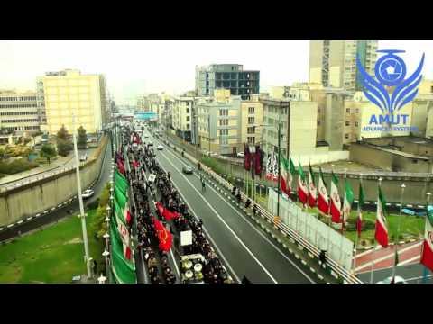 aerial video ashura iran ..تصاویر هوایی (هلی شات آموت ) از عاشورای حسینی تهران