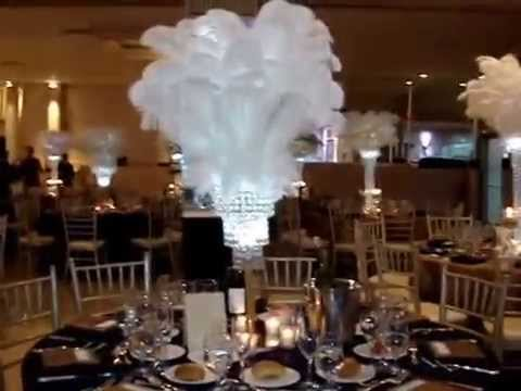 Great Gatsby Themed Wedding Centerpieces at Greentree Country Club ...