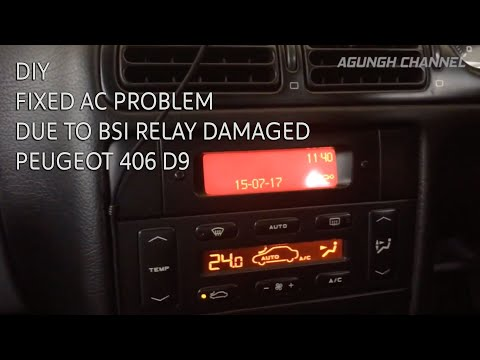 How To Replace AC Relay in BSI Unit – PEUGEOT 406