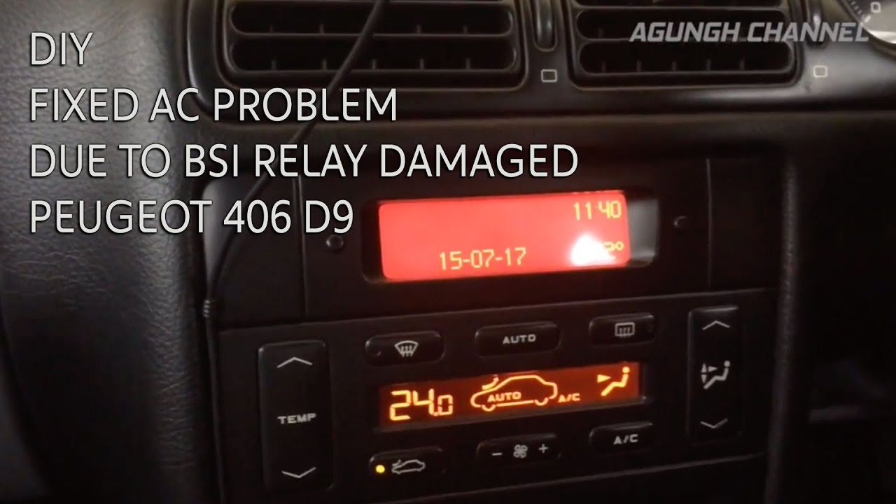 small resolution of how to replace ac relay in bsi unit peugeot 406