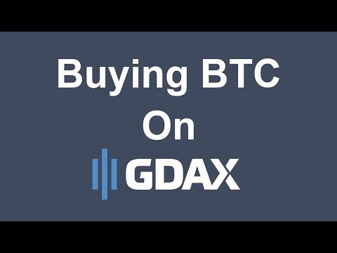 Buying BTC on GDAX